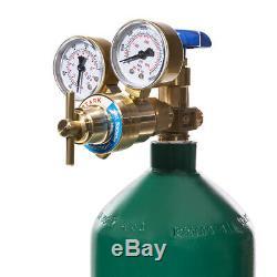 Portable professional oxyacetylene oxygen welding torch gas tank kit