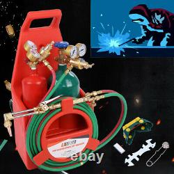 Portable twin tote Oxygen Acetylene Oxy gas Welding Cutting Weld Torch with Tank