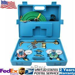 Practical Gas Welding Cutting Welder Kit Oxy Acetylene Oxygen Torch+Hose & Case