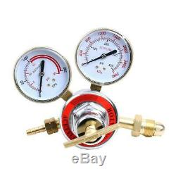 Pressure Acetylene Regulator Welding Gas Gauge Torch Cutting CGA510 with 2 Gauges