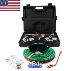 Professional Gas Welding And Cutting Kit Propane Oxygen Torch Set Regulator Safe