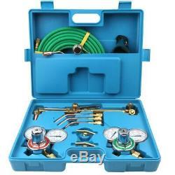 Professional Gas Welding & Cutting Kit Acetylene Oxygen Torch Set Regulator Blue