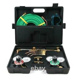 Professional Gas Welding Cutting Kit Portable Acetylene Oxygen Torch with Fittings