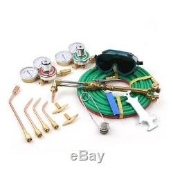 Professional Gas Welding & Cutting Kit Propane Oxygen Torch Set Regulator