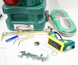 Professional HVAC Oxygen Acetylene Oxy Welding Cutting Torch Kit WithGas Tank