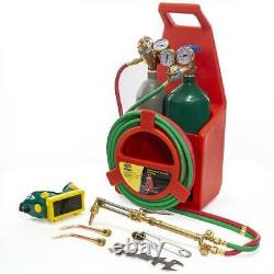 Professional Oxygen Acetylene Portable Oxy Welding Cutting Torch Kit WithGas Tank