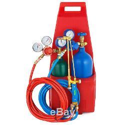 Professional Oxygen Propane GAS Welding Cutting Torch Kit Regulator with Tank