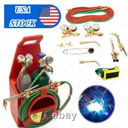 Professional Portable Oxygen Acetylene Welding Cutting Torch Kit WithGas Tank