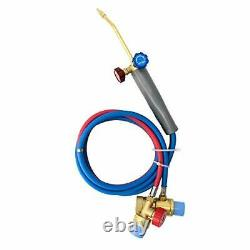 QWORK Micro Mini Gas Small Torch Gas Welding Torch Gas Torch with Hoses