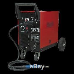 Sealey Professional Gas/No-Gas MIG Welder 190Amp with Euro Torch Welding Machine