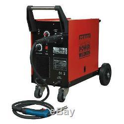 Sealey Professional Gas/NoGas MIG Welder 210Amp With Euro Torch MIGHTYMIG210