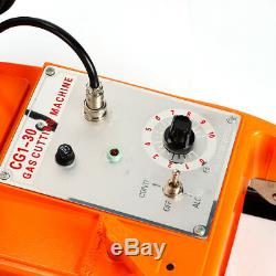 Semi-automatic Torch Gas Cutting Machine Pipe Circular Cutter Magnet Wheel 110V
