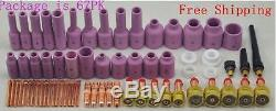TIG Consumables Kit Gas Excellent Quality Tig Torch Welding Alumina Nozzle