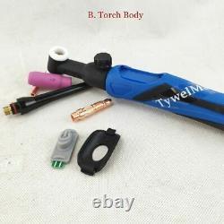 TIG Torch GTAW Gas Tungsten Arc Argon Valve Air Cooled Welding Torch Latest