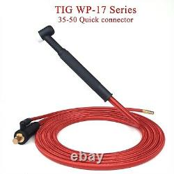 TIG Welding Torch Gas Electric Integrated Rubber Hose Cable Wire Quick Connector