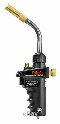 Tesuco MAP-PRO GAS HAND TORCH With Piezo Ignition Trigger, Swivel Neck Tube