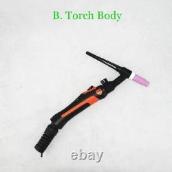 Tig Torch 200a Gas Valve Flexible Tungsten Arc Welding Gun Wp26 Argon Air Cooled
