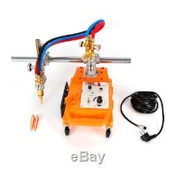 Torch Track Burner CG1-30B Gas Cutting Machine with 2 Rail Track 110V Quick Switch
