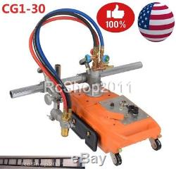Torch Track Burner Cg1 Gas Cutting Machine Cutter with 1.8M Rail Rack US Ship