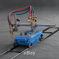 Torch Track Burner Portable Handle Gas Cutting Machine 110V + Propane Nozzle