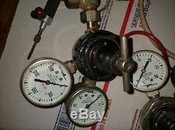 Used Tescom empty Jewelers Micro Mini Gas Torch Welding Soldering w Regulators