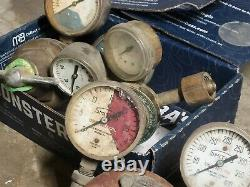 Used gas welding torches, Cut off torches, Gauges, tips