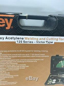 VALLEY Gas Welding Cutting Kit Tool Oxy Acetylene Torch Brazing Fits VICTOR