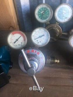 VICTOR & GENWELD WELDING TORCH LOT Of 11 Cutting torch & Gas / Air Regulators