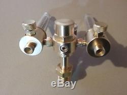 Victor DFM-150 cga580 Inert gas dual Flowmeter regulator mig/tig welding torch