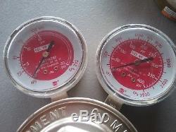 Victor Journeyman CSR 450 oxygen / acetylene gas regulators for cutting torch