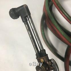 Victor Oxygen/Acetylene Gas Welding/Cutting Torch Set Gauges LONG Hoses LB