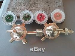 Victor SR 200c oxy and SR210a acet gas regulators for cutting / welding torch