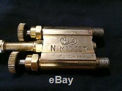 Vintage Brass Meco N Midget Torch Gas Welder with #2 Tip