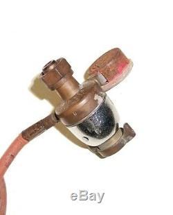 Vintage Uniweld Universal Welding Torch Head With Gas Regulator & 12' Hose Bundle