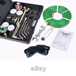 Welding Kit Oxy Acetylene Torch Gas Cutting Tool Brazing w Hose Case Victor