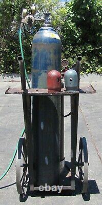Welding Oxy Fuel Acetylene and Oxygen Gas Torch Cart 22 feet of hose