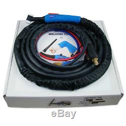 Welding torch T-18V 8m iquid-cooled holder for TIG welding gas valve in the head