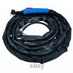 Welding torch TIG T-26F ERGO EURO 4m gas-cooled torch for TIG welding