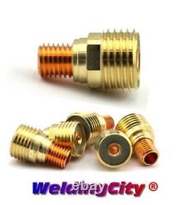 WeldingCity 10pk Assorted Gas Lens 45V43-45V44 1/16-3/32 TIG Welding Torch 9/20