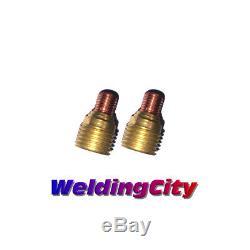 WeldingCity 2-pk Gas Lens Collet Body 45V44 3/32 for TIG Welding Torch 9/20/25