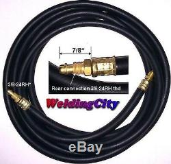 WeldingCity Power Cable Gas Hose 57Y01R (Rubber) 12.5-ft TIG Welding Torch 9/17