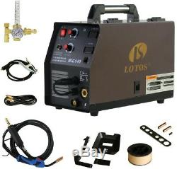 Wire Feed Welder 140 Amp MIG torch Ground Clamp Cable Gas Hose Argon