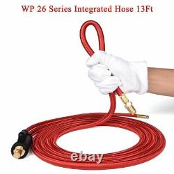 Wp26 Quick Connect Tig Welding Torch Gas-electric Integrated Red Hose Cable Wire
