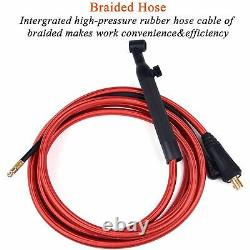 Wp26 Wp26fv Wp26f Tig Welding Torch Gas-electric Integrated Rubber 4m 35-50 Euro