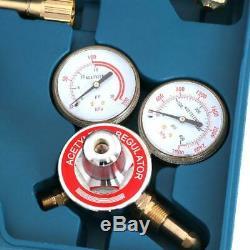 Zeny Gas Welding Cutting Kit Harris Type Acetylene Oxygen Torch Set Welder Regu